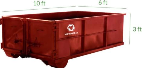 6 yard dumpster bin